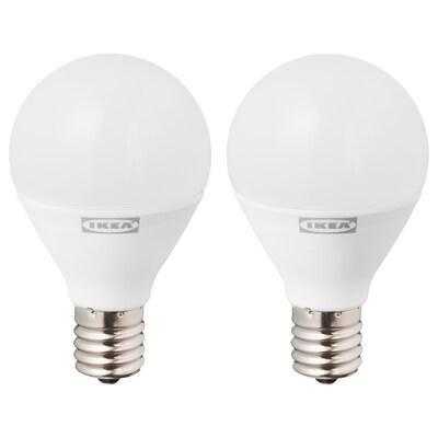 RYET LED bulb E17 440 lumen, globe opal white