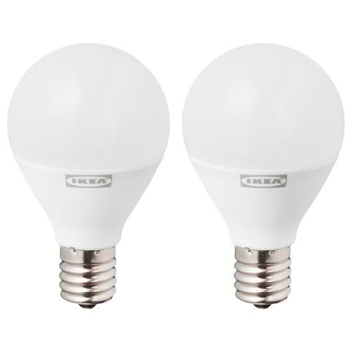 RYET LED bulb E17 440 lumen globe opal white 2700 K 400 lm 45 mm 4.2 W 2 pack