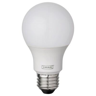 RYET LED bulb E26 485 lumen, globe opal white