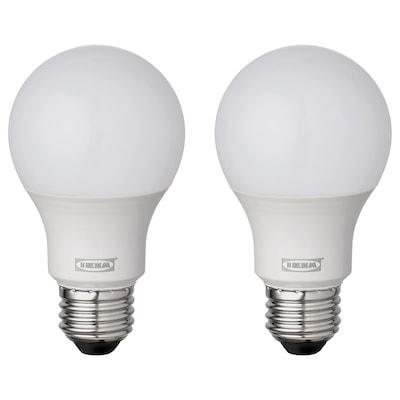 RYET LED bulb E26 810 lumen, globe/opal white