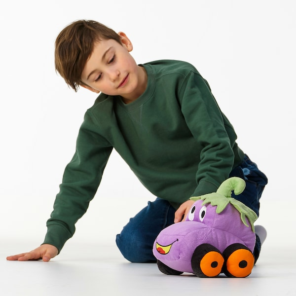 SAGOSKATT Soft toy, eggplant car