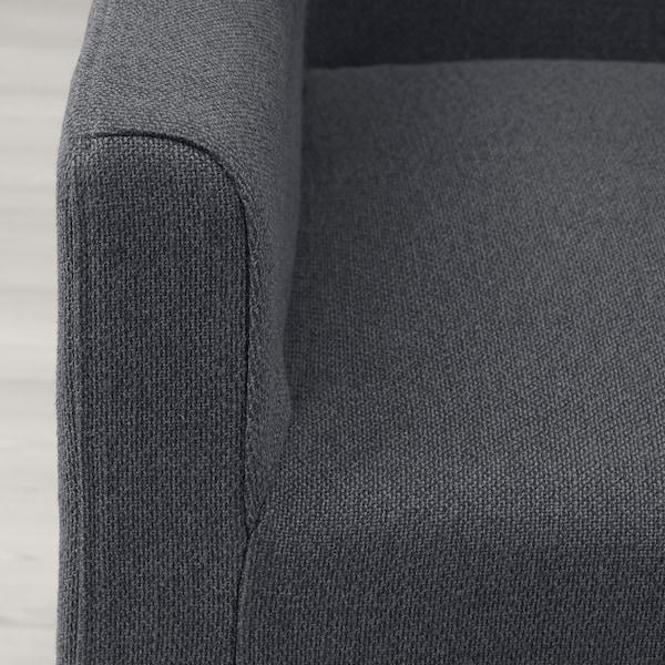 SAKARIAS Chair with armrests, black/Sporda dark grey
