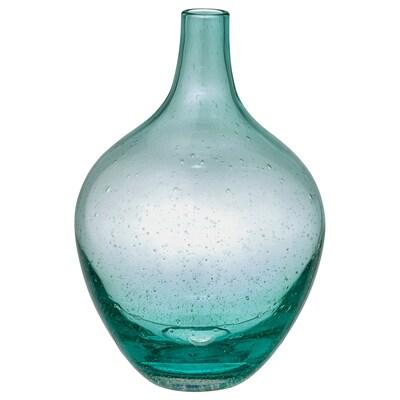 SALONG Vase, light turquoise, 20 cm
