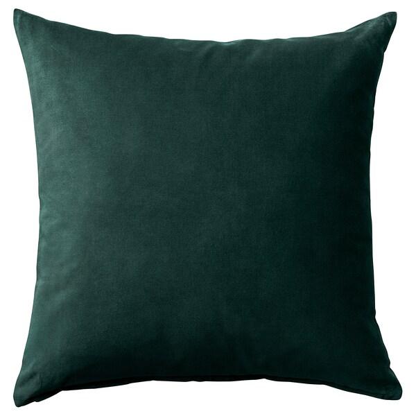 SANELA Cushion cover, dark green, 50x50 cm
