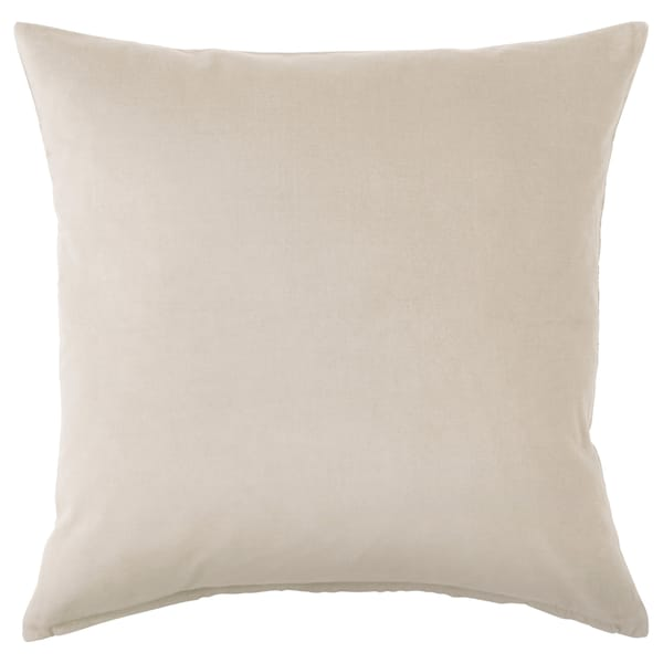 SANELA Cushion cover, light beige, 50x50 cm