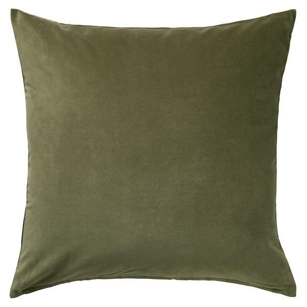 SANELA Cushion cover, olive-green, 50x50 cm