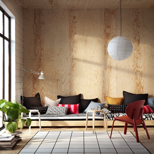 SARAKAJSA Cushion, pink/red/striped, 30x58 cm