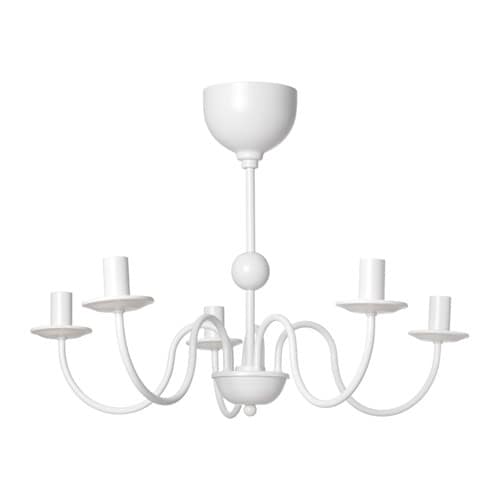 Sillvik Chandelier 5 Armed White