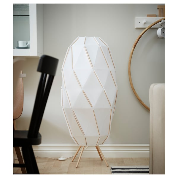 SJÖPENNA Floor lamp, white