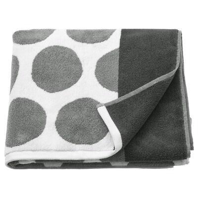 SJÖVALLA Bath towel, anthracite/white, 70x140 cm