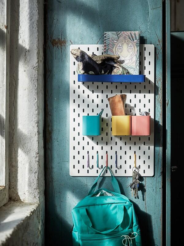 SKÅDIS container assorted colours 7.5 cm 9 cm 8 cm 3 pack