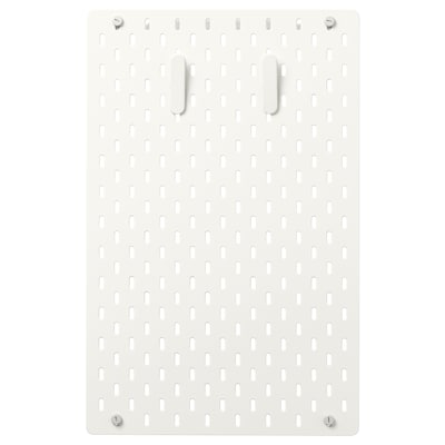 SKÅDIS Pegboard combination, white, 36x56 cm