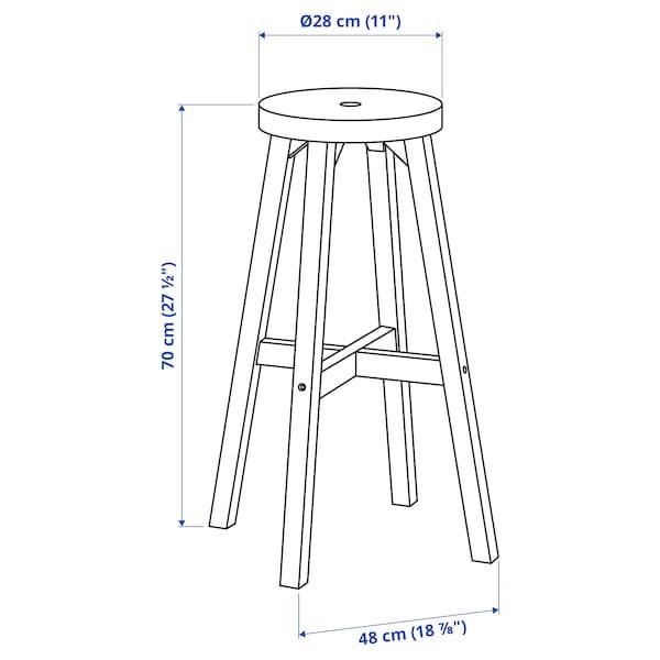 SKOGSTA Bar stool, acacia, 48x70 cm