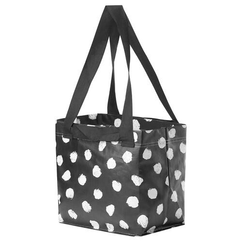 SKRUTTIG bag white/black 27 cm 27 cm 18 cm