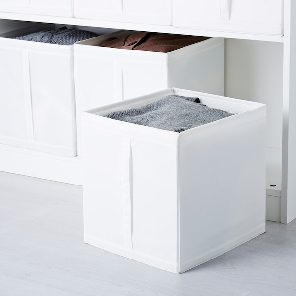 SKUBB Box, white, 31x34x33 cm