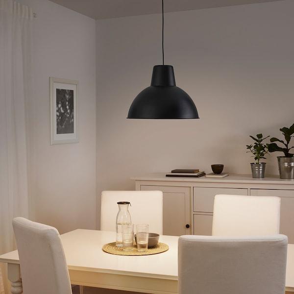 SKURUP Pendant lamp, black, 38 cm