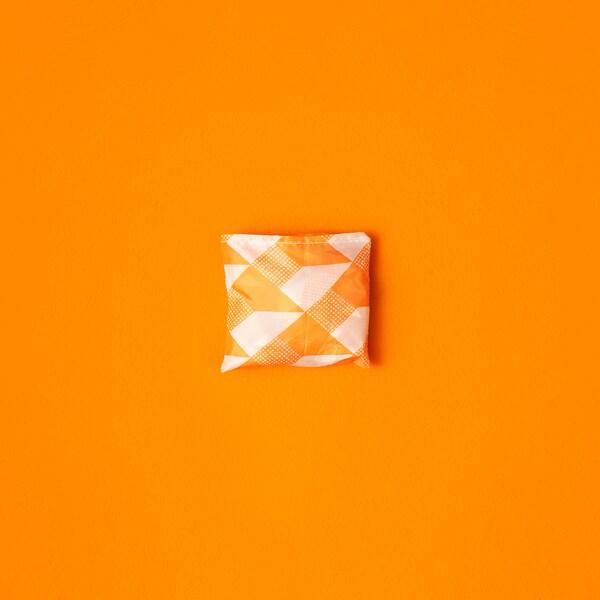SKYNKE Carrier bag, white/orange