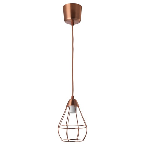 SLÄTTBO pendant lamp copper-colour 24 cm 15 cm 1.8 m