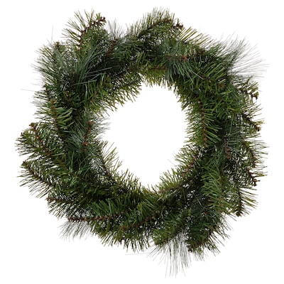 SMYCKA Artificial wreath, in/outdoor/pine spruce, 45 cm