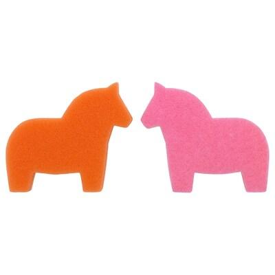 SNABBAKAT Sponge, pink/orange
