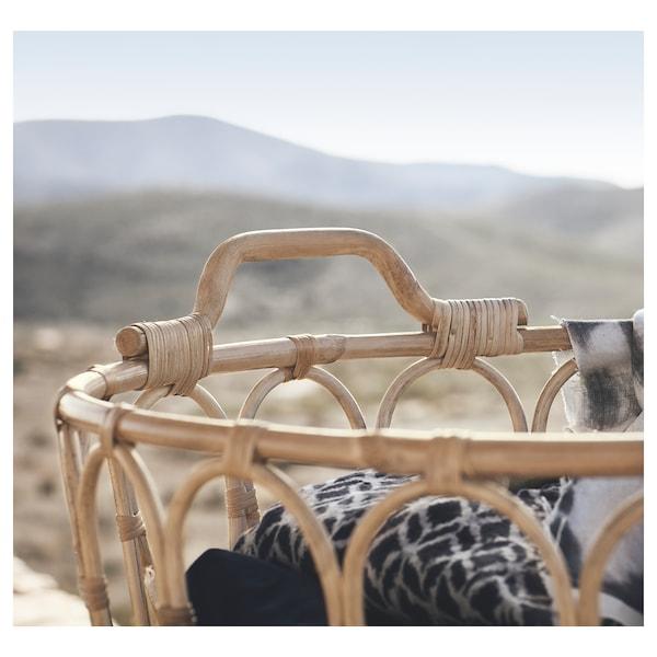 SNIDAD Basket, rattan, 54x39 cm