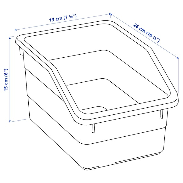 SOCKERBIT Box, white, 19x26x15 cm