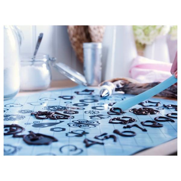 SOCKERKAKA Baking mat and knife, light blue