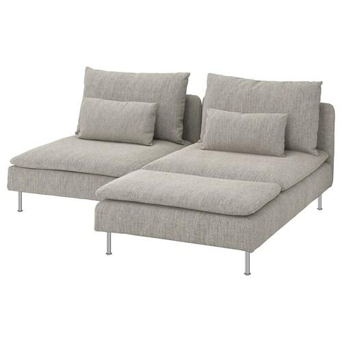 SÖDERHAMN 2-seat sofa with chaise longue/Viarp beige/brown 83 cm 69 cm 151 cm 186 cm 99 cm 122 cm 14 cm 70 cm 39 cm