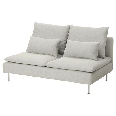 SÖDERHAMN Compact 3-seat section, Viarp beige/brown