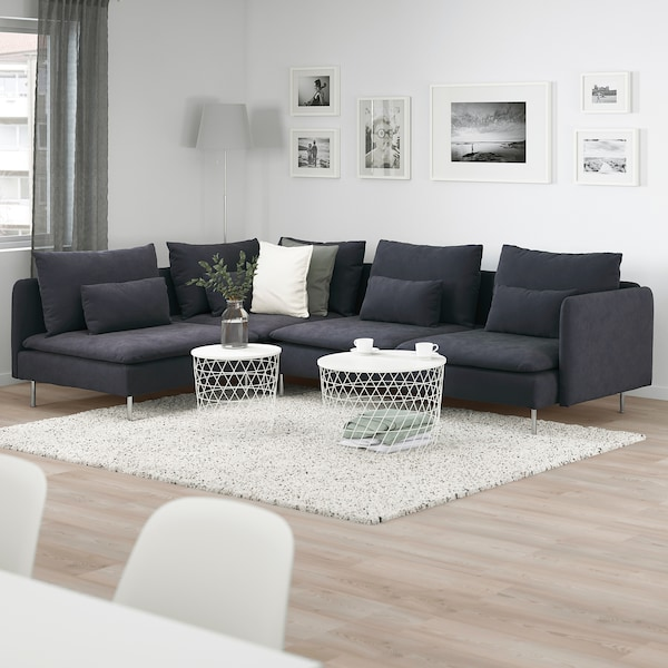 SÖDERHAMN Corner sofa, 4-seat, with open end/Samsta dark grey