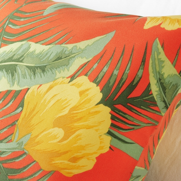 SOLBLEKT cushion cover in/outdoor/floral pattern orange 65 cm 65 cm
