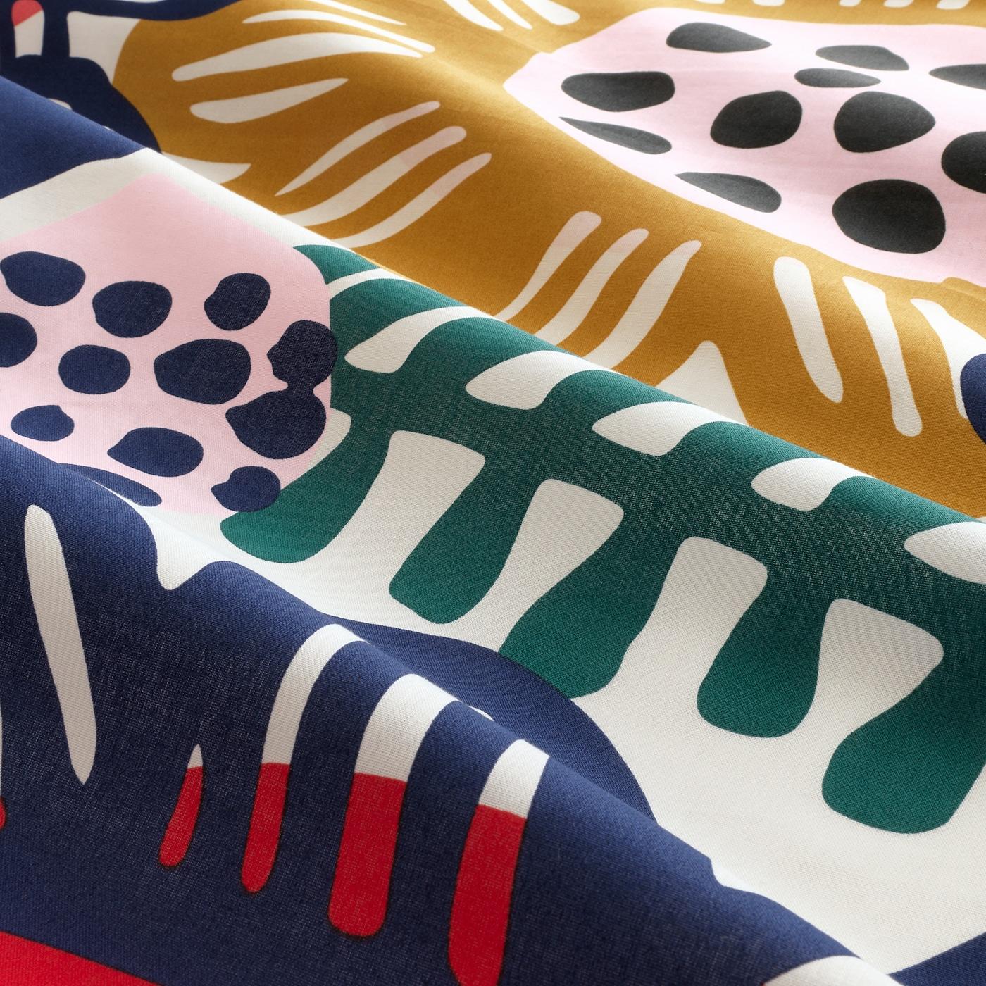 IKEA SOMMARASTER DUVET COVER SET MULTICOLOUR FLORAL BEDDING QUILT 100/% COTTON