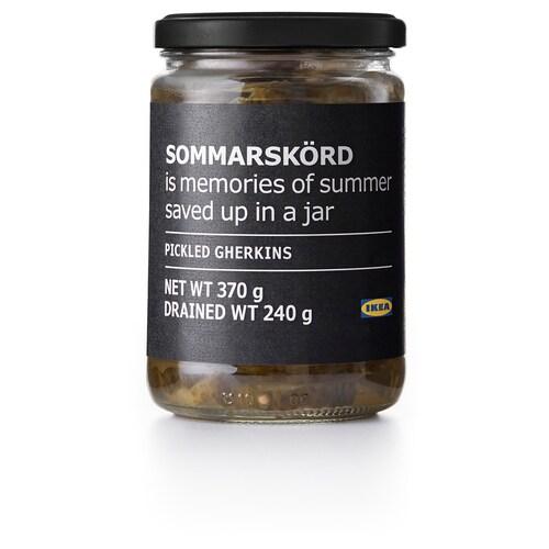 SOMMARSKÖRD pickled gherkins, sliced 240 g 370 g