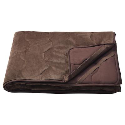 SPÄDNARV Mattress protector, brown, 90x200 cm