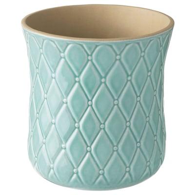 SPARRISKNOPP Plant pot, light blue, 12 cm