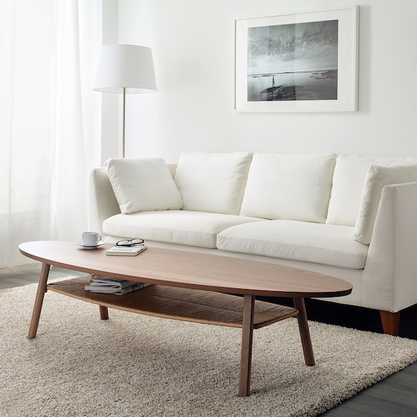 STOCKHOLM Coffee table, walnut veneer, 180x59 cm