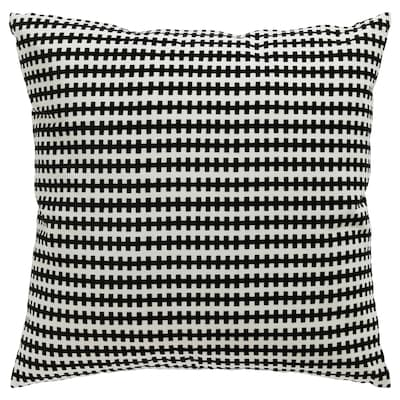 STOCKHOLM Cushion, black/white, 50x50 cm