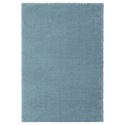 STOENSE Rug, low pile, medium blue, 133x195 cm