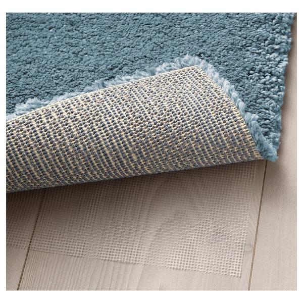 STOENSE Rug, low pile, medium blue, 80x150 cm