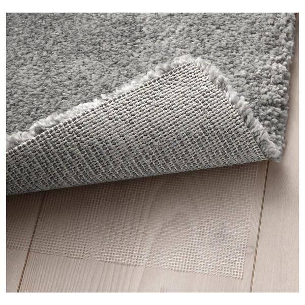 STOENSE Rug, low pile, medium grey, 133x195 cm
