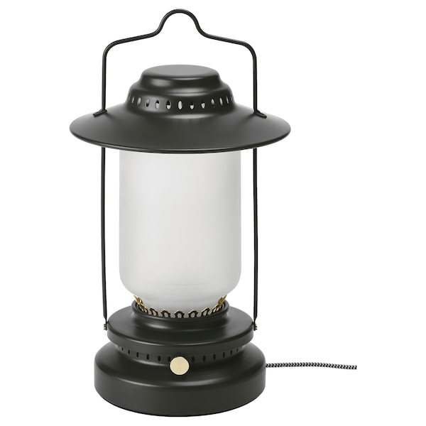STORHAGA LED table lamp, dimmable outdoor/black, 35 cm