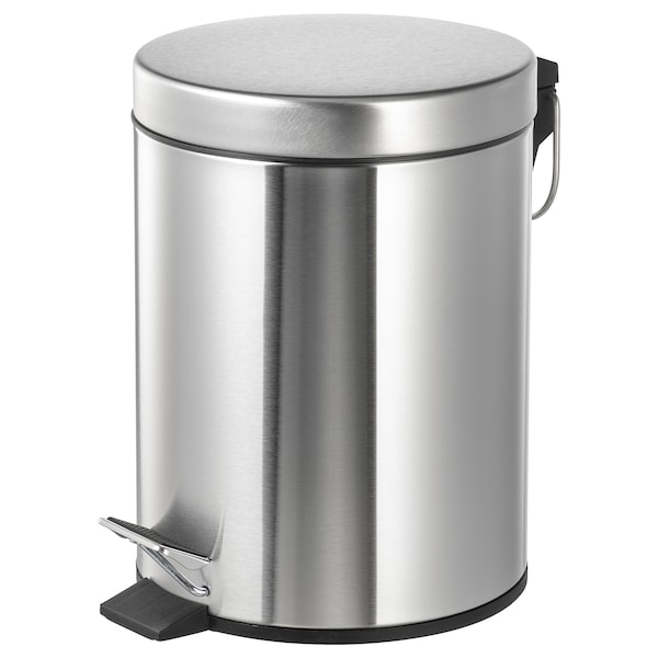 STRAPATS Pedal bin, stainless steel, 5 l