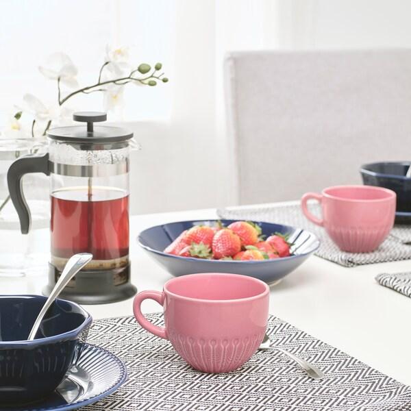 STRIMMIG Mug, stoneware pink, 36 cl
