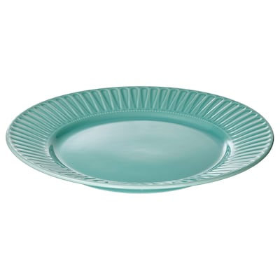 STRIMMIG Plate, turquoise, 27 cm
