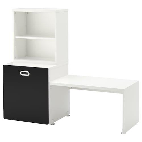 STUVA / FRITIDS table with toy storage white/blackboard surface 150 cm 50 cm 128 cm