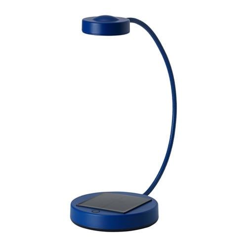 sunnan led table lamp solar powered blue ikea. Black Bedroom Furniture Sets. Home Design Ideas