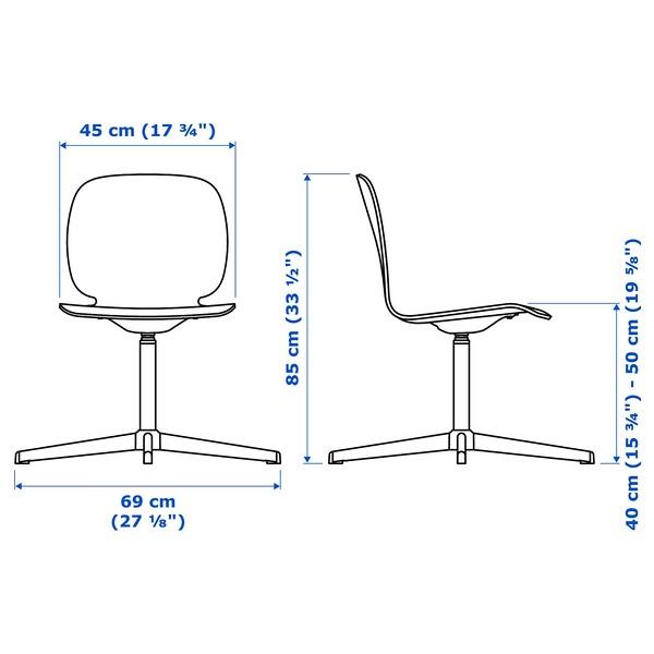 SVENBERTIL Swivel chair, oak/Balsberget white
