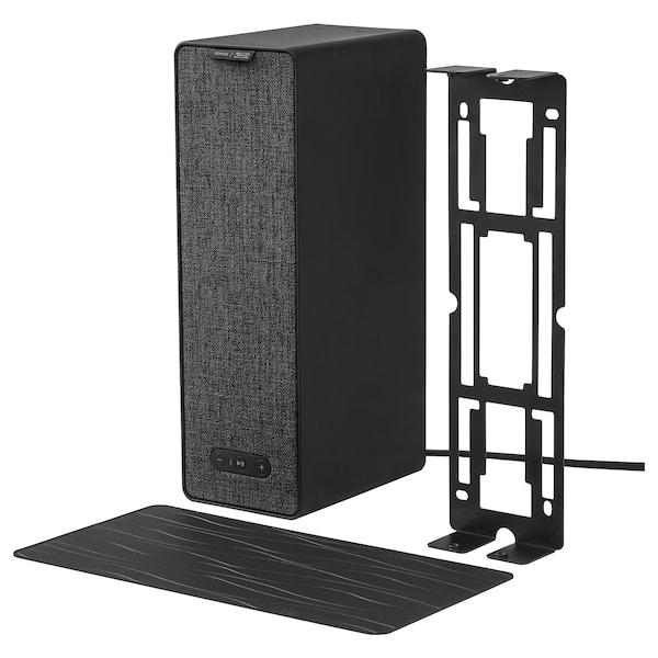 SYMFONISK / SYMFONISK WiFi speaker with bracket, black, 31x10x15 cm
