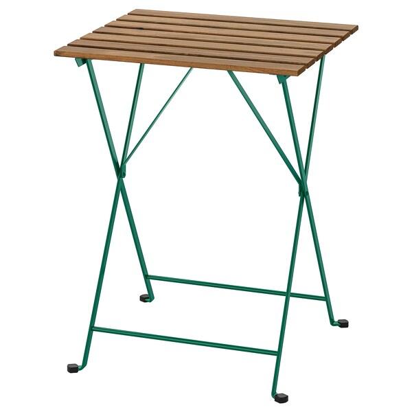 TÄRNÖ Table, outdoor, dark green/light brown stained, 55x54 cm