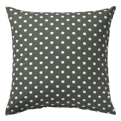 TAGGBRÄKEN Cushion cover, grey white/dot pattern, 50x50 cm